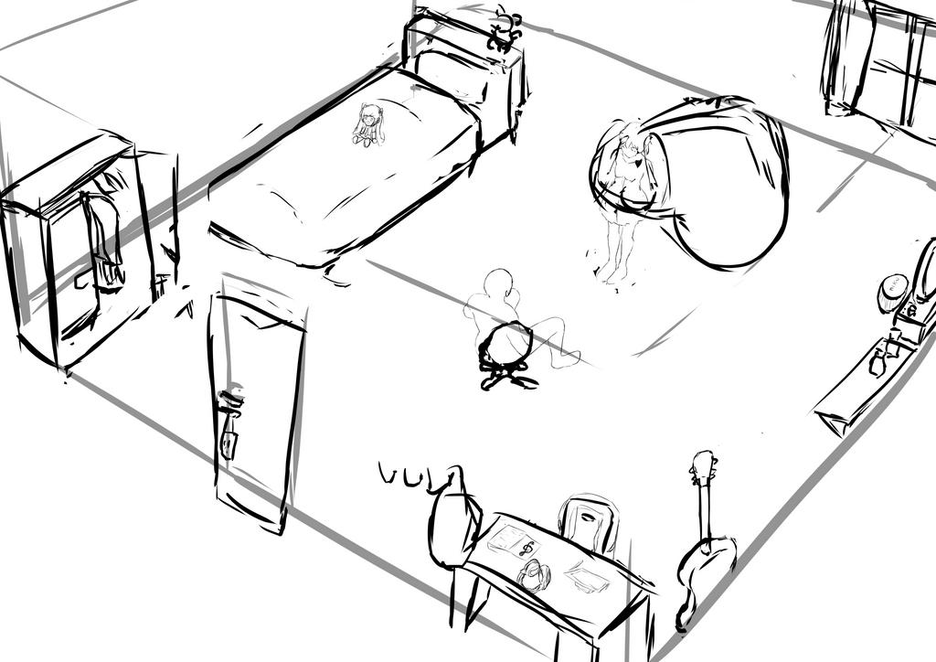 Miku room by darvious
