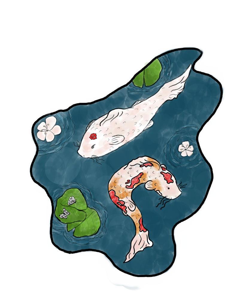 Koi fish pond by ilonleymuffin on deviantart for Koi fish pond size