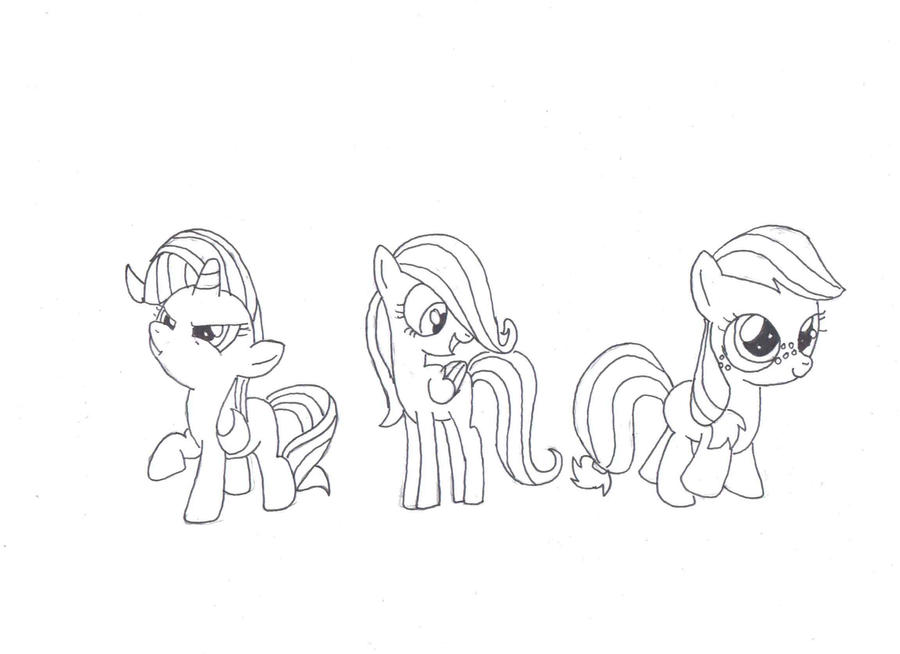 Mane 6 pages coloring pages for Mlp coloring pages mane 6