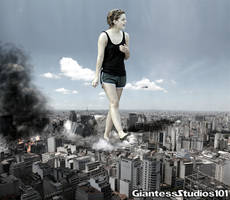 Giantess Emma Watson Dangerous Airspace by GiantessStudios101