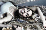 Giantess Kristin Hager Lies Down in New London