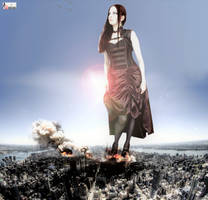 Goddess Amarie Tinuviel - Interrupting Her Stroll by GiantessStudios101
