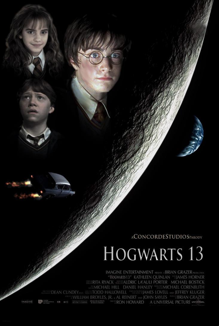 Harry Potter - Hogwarts 13 Poster (Parody) by GiantessStudios101