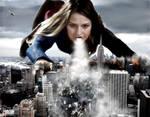 Mega Evil Giantess Supergirl - A Tempest Landing