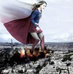 Mega Giantess - Supergirl Rough Landing