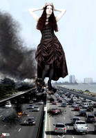 Giantess Amarie Tinuviel - Highway of Doom by GiantessStudios101