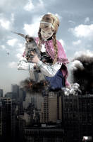Mega Giantess Princess Anna Hugs The Empire State by GiantessStudios101