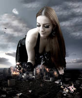Amarie Tinuviel -  Trouble Over Houston by GiantessStudios101