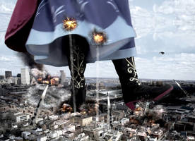 Mega Giantess Princess Anna - Smashing The Suburbs by GiantessStudios101