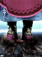 Mega Giantess Princess Anna - Deadly Footwear by GiantessStudios101