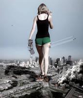 Mega Giantess Taylor Swift - Entering Dallas by GiantessStudios101