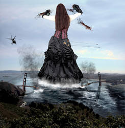 Goddess Amarie Tinuviel - Tearing The Golden State by GiantessStudios101