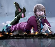 Giantess Princess Anna Takes A Bite Of Washington by GiantessStudios101