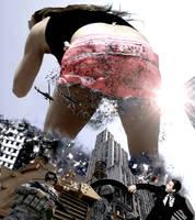 Mega Giantess Jennifer Aniston - Butt Crush by GiantessStudios101