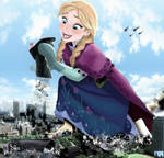 Mega Giantess Princess Anna - Cleaning Her Gear by GiantessStudios101