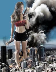 Mega Giantess Kira Kosarin - Puny City by GiantessStudios101