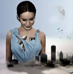 Mega Giantess Brie Larson - Breast Implants by GiantessStudios101