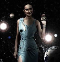 Giga Goddess Brie Larson - Planetary Picking by GiantessStudios101