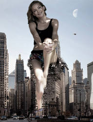 Giantess Kate Hudson Crashing In Chicago