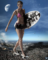 Mega Giantess Candice Swanepoel - Where Can I Surf