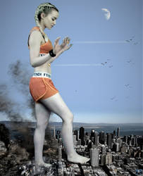 Mega Giantess Dove Cameron San Francisco Showdown