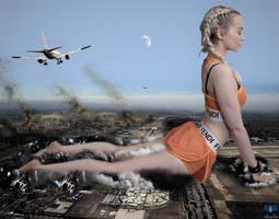Mega Giantess Dove Cameron - An Airport Yoga Mat