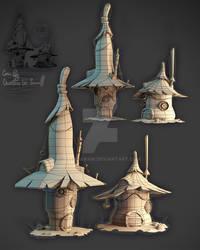 Olena kram Houses, low poly cute  3dkram@gmail.com