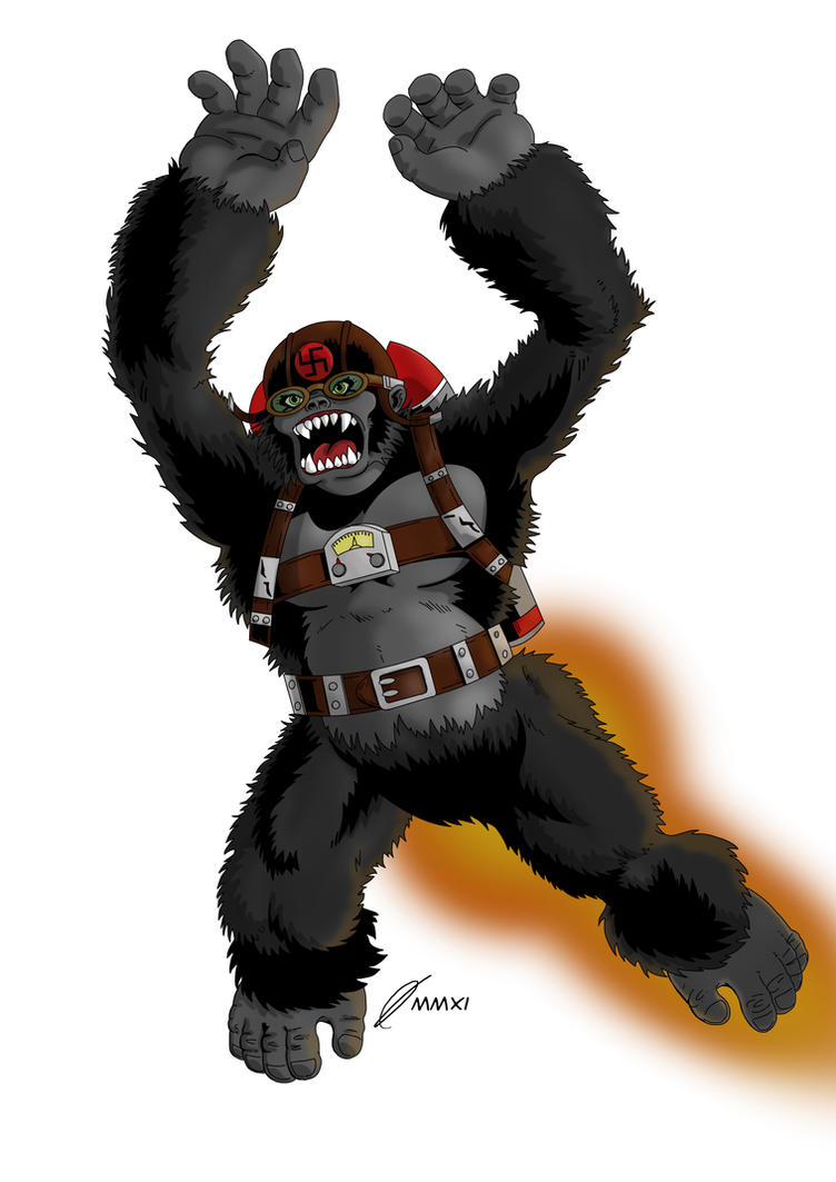 Vigilance piece 1: nazi ape by monkey-xuk