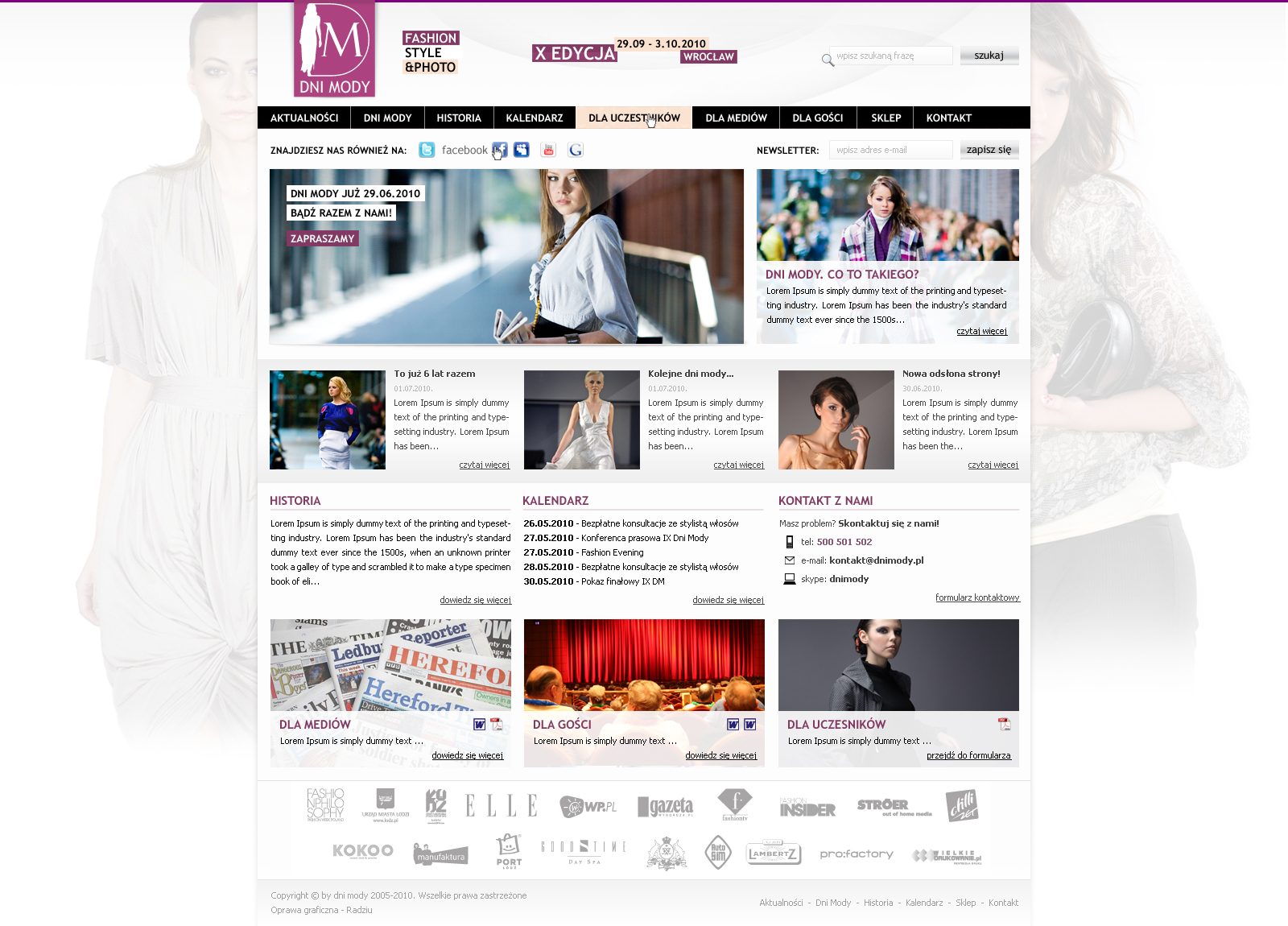 Dni mody by RadziuPL Web Interface Showcase: Effective & Clear Web Designs