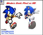 Modern Sonic Pixel vs HD