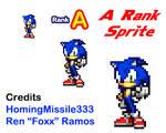 Modern Sonic A Rank Pose Sprite