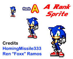 Modern Sonic A Rank Pose Sprite by HomingMissile333