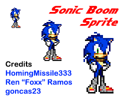Sonic Boom Sprite by HomingMissile333