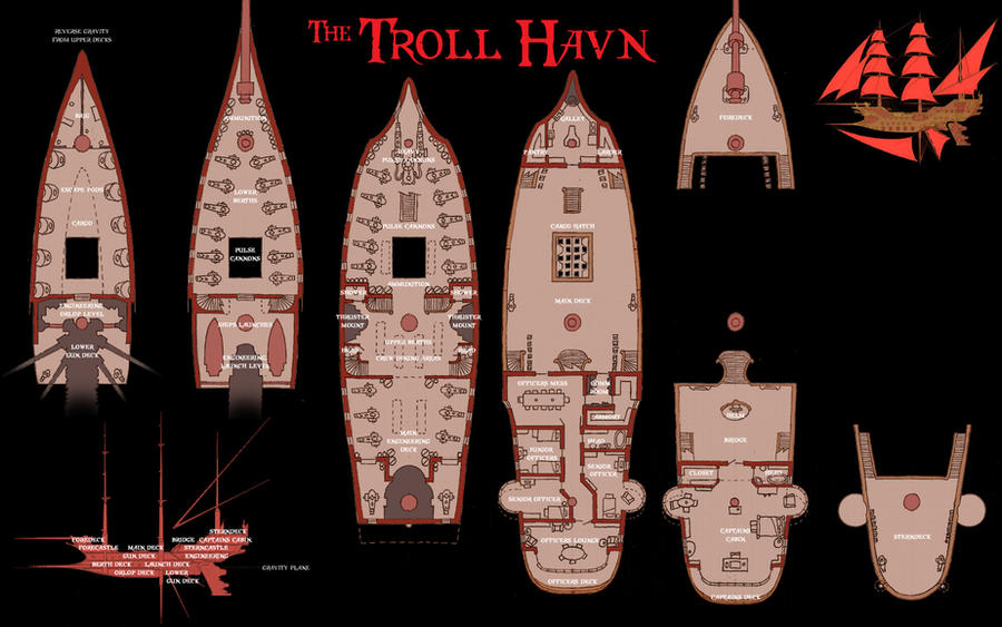 Troll Havn Deckplans 151622515 on Medieval House Floor Plan
