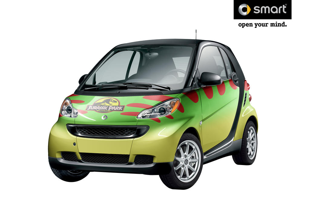 Jurassic Park Smart Car by Bawarner