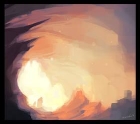 peach cave by Bawarner