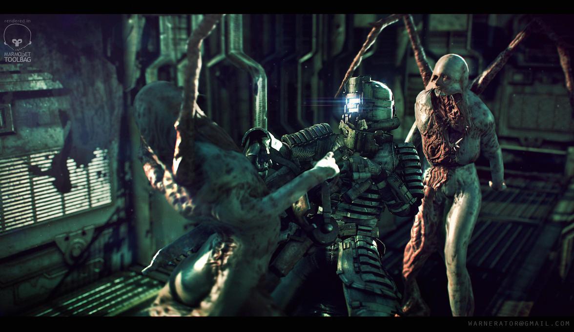 Dead Space scene by Bawarner