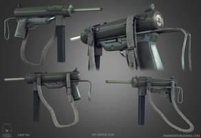 M3 Grease Gun low poly by Bawarner