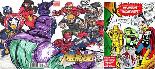 Avengers 1 Cover Remake by joselrodriguesart
