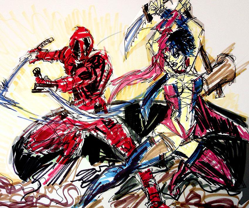 Deadpool vs harley quinn by joselrodriguesart on deviantart - Deadpool harley quinn notebook ...
