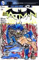 batman 0 sketch variant bane vs batman by joselrodriguesart