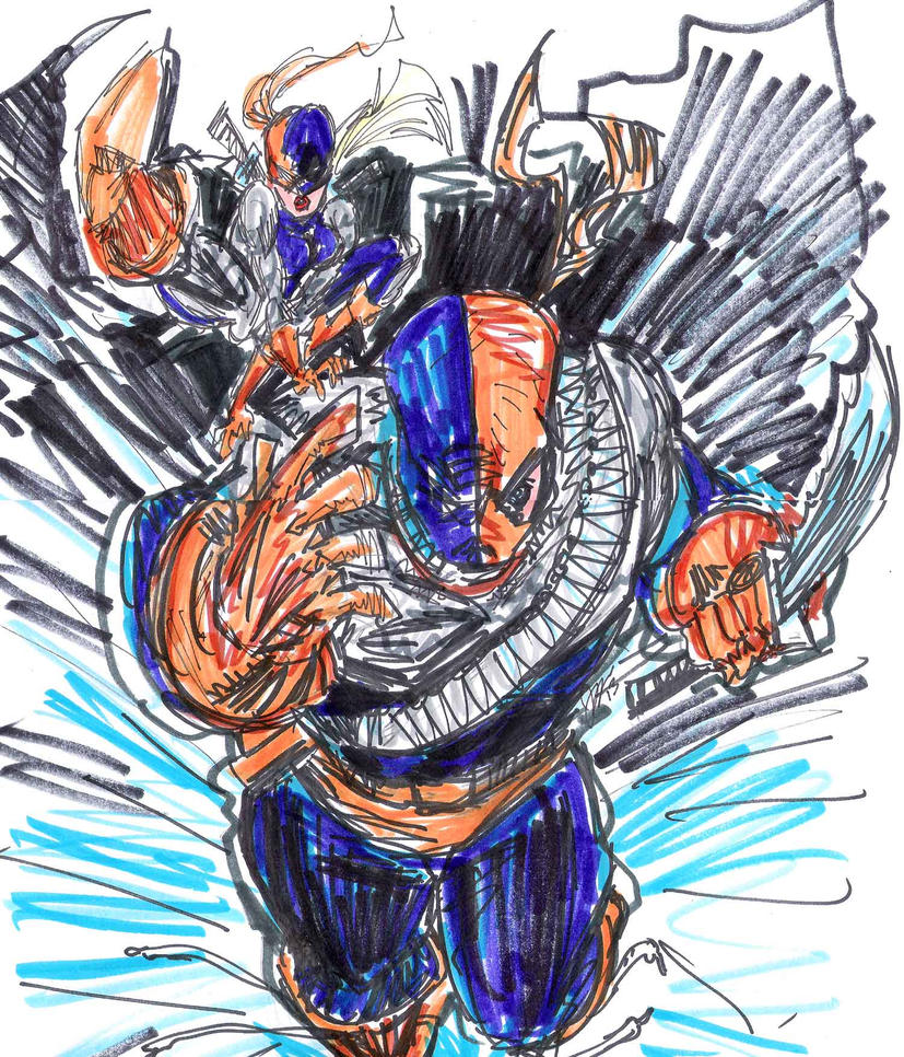 deathstroke and Ravager II by joselrodriguesart on deviantART Deathstroke And Ravager