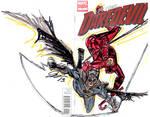 daredevil and batman by joselrodriguesart