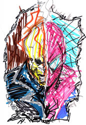 Ghost Rider/Spider-Man jose rodridgues art by joselrodriguesart