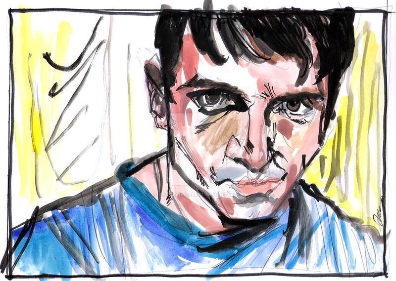 self-portrait watercolor I by jose rodirgues art by joselrodriguesart
