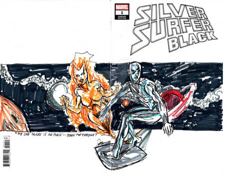 silver surfer 1 IV by jose rodrigues art