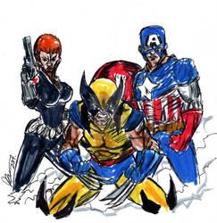 Uncanny Avengers by rodrigues art