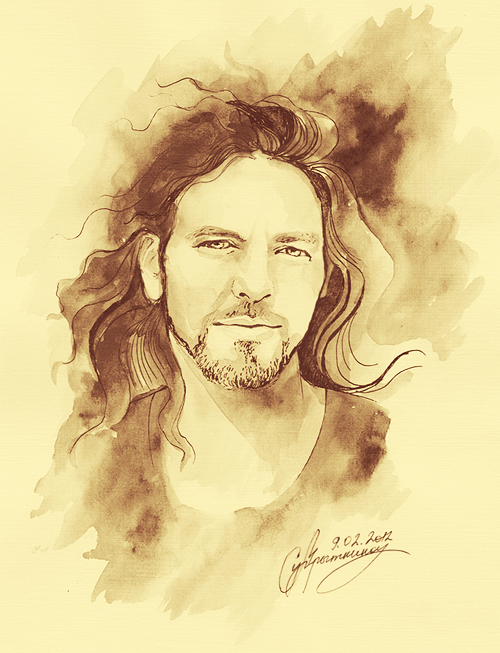 Eddie vedder by salva door on deviantart eddie vedder by salva door altavistaventures Gallery