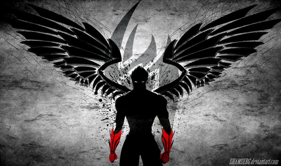 La oscuridad habita en mí... soy el ángel de alas oscuras...