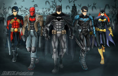 Bat Family by shamserg